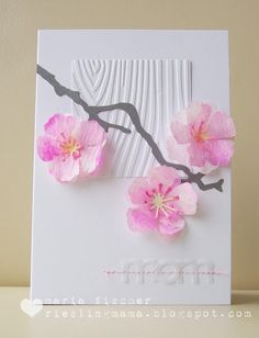 Card making ideas and tips for handmade greeting cards - birthday, thank you, love, baby, sympathy and all occasion. Pretty Cards, Cute Cards, Diy Cards, Handmade Greetings, Greeting Cards Handmade, Memory Box Cards, Asian Cards, Beautiful Handmade Cards, Mother's Day Diy