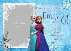 FrozenFreePrintableInvitationsTemplates Cakes Pinterest - Frozen birthday party invitation template free