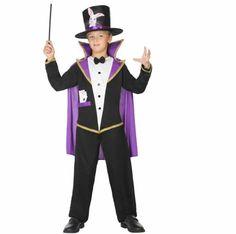 Comprar Disfraz infantil Mago Chistera. Disfraz de mago para niños.  A este disfraz solo le falta que aparezca el conejo de la chistera. Este disfraz de mago infantil y mucha magia más te espera en disfracestuyyo.com