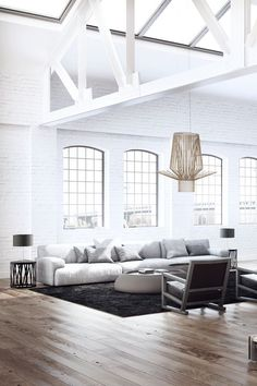 high ceilings, neutrals, home decor, interior design, minimalist home, interiors, modern