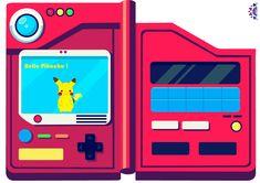 I wanted to create my own Pokedex ^^ I inserated my pikachu i created a few months ago . Pokemon Pokedex, Pokemon Blue Version, Halloween Oreos, Pokemon Party, Pretty Cure, Trippy, Pikachu, Birthdays, Bujo