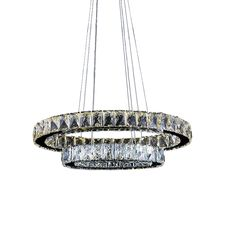 Find More Pendant Lights Information about Modern LED Crystal Pendant Lighting Hanging Lamp Fixtures with 2 Ring D2040CM 27W CE FCC ROHS VALLKIN,High Quality lamp luxury,China lamp modern Suppliers, Cheap lamp china from KINGDOM LIGHTING on Aliexpress.com