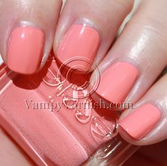 On my nails: Essie, Tart Deco.  The bright color just makes me smile.