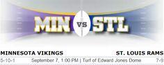 Minnesota Vikings vs. St. Louis Rams NFL Preview #Vikings #StlouisRams #Rams #Minnesota #MinvsRams #NFL #Football #Peterson
