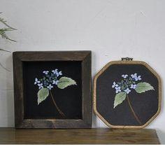 산수국 야생화자수 #야생화자수  #야생화느낌자수  #들꽃자수  #꽃자수  #생활자수  #handmade  #embroidery  #wildflowers