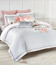 Ted Baker Chatsworth Bloom Bedding Collection Home - Bedding - Bedding Collections - Bloomingdale's Grey Comforter Sets, Twin Comforter, King Duvet, Queen Duvet, Duvet Sets, Cute Bedding, Floral Bedding, King Bedroom Sets, Master Bedroom