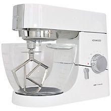 Buy Kenwood KMC015 Chef Titanium Stand Mixer, White Online at johnlewis.com
