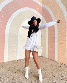Cowgirl boots and dress Everything Pink, Show Me Your, Cowgirl Boots, Style Inspiration, Legs, Fall, Womens Fashion, Shopping, Beauty