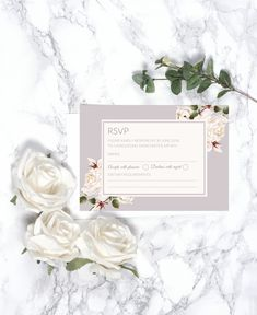Beautifully designed floral style RSVP Wedding Card with a contemporary layout and romantic fonts.
