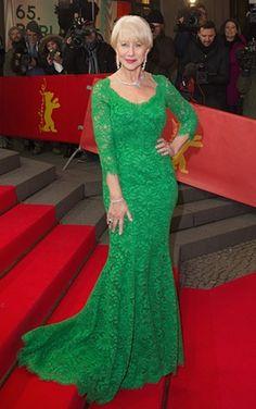 118f694ffed8 Helen Mirren in green at the Berlin film festival – Stylewatch