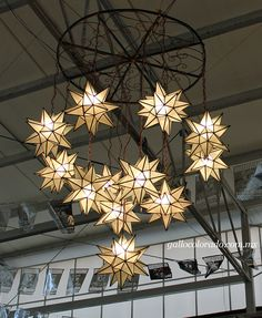 Frosted Glass Star Chandelier This Picture Was Taken During Expo Enart Tlaquepaque 2017