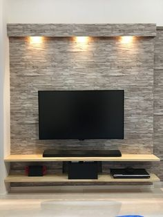 get inspired gone these shining ideas for animate room lighting for homes of every size, color, and style. Tv Cabinet Design, Tv Wall Design, House Design, Mounted Tv Decor, Wall Mounted Tv, Living Room Tv Unit, Living Room Decor, Deco Studio, Tv Wall Decor