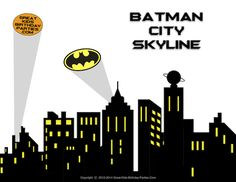 superhero+skyline+backdrop | Superhero Cityscape Clipart Superhero skyline panel 1