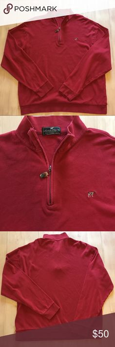 Southern Point Co. Charleston zip Pima cotton Southern Point Co. Charleston zip Field Series 100% Pima Cotton Red . Embroidered Grayton logo. Leather zipper pull with stamp grommet. Mens XL EUC Southern Point Co. Shirts Sweatshirts & Hoodies