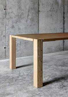 Mesa rectangular de madera maciza WF1 by FIORONI