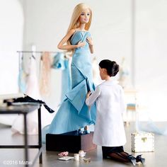 Instagram media by barbiestyle - Fitting time at the atelier! The artistry of couture is all about your perfect fit. #hautecouture #barbie #barbiestyle
