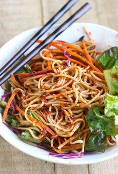 Spicy Korean Cold Noodles (Bibim Guksu) #recipe