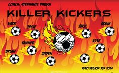 Kickers-Killer-40463 digitally printed vinyl soccer sports team banner. Made in the USA and shipped fast by BannersUSA. www.bannersusa.com
