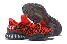 """5d2351e7fce Men s adidas Crazy Explosive Low """"Tiger Red"""" Red Core Black Free Shipping Kd"""