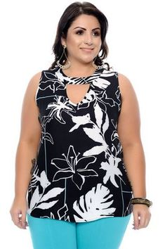 Regata Plus Size Raylane - Zahra 2019 trends Plus Size Summer Fashion, Vestidos Plus Size, Modelos Plus Size, Kurti Neck Designs, Special Occasion Outfits, Full Figured Women, Plus Size Kleidung, Stylish Tops, Dress Sewing Patterns