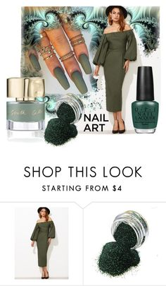 """""""Green With Envy: Wintery Nail Polish"""" by victoria-ronson ❤ liked on Polyvore featuring beauty and OPI"""