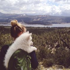 Everything I want from life in one photo-- outdoors and an adorable puppy!