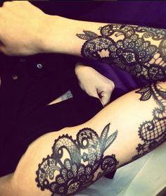 lace tattoo cool 2016