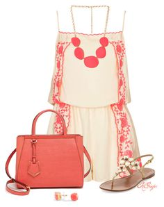 """""""In a Summer State of Mind..."""" by kginger ❤ liked on Polyvore featuring Topshop, Tory Burch, Fendi, Forever 21 and C. Wonder"""