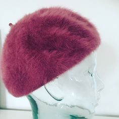 by WifinpoofVintage on Etsy Samuel Jackson, Beret, Wool Blend, Vintage Items, Winter Hats, 1960s, Pink, Gifts, Handmade