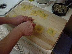How to make homemade ravioli dough.