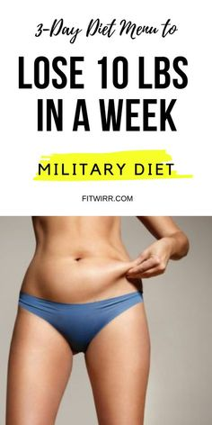 3-day Diet Menu to Lose 10 lbs in a week. Full Military Diet Menu. #militarydiet #3daydiet #3daydietplan #militarydietmenu #militarydietmealplan #lose10poundsinaweek #lose10poundsfast #loseweightinaweek #loseweightfast #fitwirr #fastweightloss