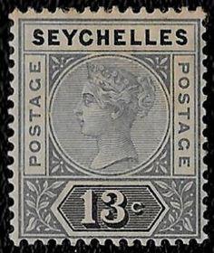 + 1890 Seychelles Islands Indian Ocean Queen Victoria #9a.A1 13c a.die-1 MH