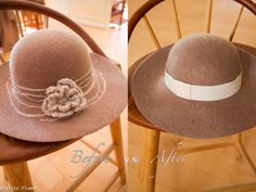 felted hat transformation