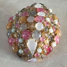 Большой! Christian Dior 1963 стекло Кабошон кристалл купольный брошь булавка Германия   Украшения и часы, Винтажные и антикварные украшения, Бижутерия   eBay!