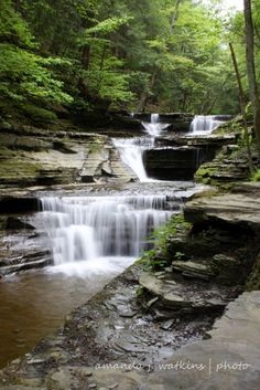 Hiking Buttermilk Falls State Park in New York's Finger Lakes Region.