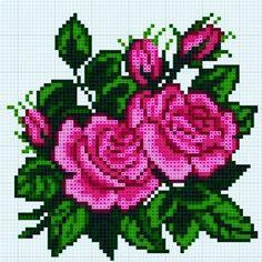 Este posibil ca imaginea să conţină: floare Cross Stitch Rose, Cross Stitch Flowers, Cross Stitch Charts, Cross Stitch Designs, Embroidery Patterns Free, Beading Patterns, Cross Stitch Patterns, Cross Stitching, Cross Stitch Embroidery