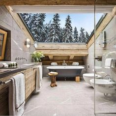 Amazing chalet design to your winter chalet. Elegance and refinement in every piece of choice that makes a simple environment, but at the same time unique and w Chalet Design, House Design, Chalet Interior, Interior Design, Interior Modern, Condo Interior, Interior Shop, Interior Sketch, Nordic Interior