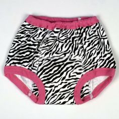 Cotton Training Pants- Zebra Print (Medium (29-34 lbs), Zebra) by Mom Innovations. $10.50. Comparable to the Gerber training pants.. Center & Side Panels: 100% Cotton. These potty pants are not waterproof.. Fits loosely so that they can be pulled on and off by the toddler, without adult help.. Absorbent center panel.. We have specially designed these padded potty training pants to fit loosely so that they can be pulled on and off by the toddler, without adult help. Not only does...