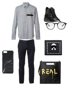 """Sem título #4"" by cacagasp on Polyvore featuring Givenchy, Urban Pipeline, Gucci, Giuseppe Zanotti, Fendi, Ray-Ban, Native Union, men's fashion e menswear"