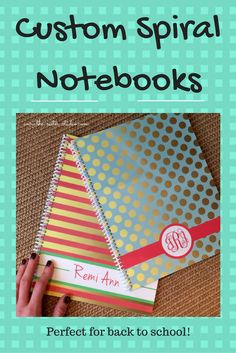 These are so cute and fun. Who wouldn't want a personalized notebook for school?