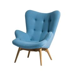 Sit around, stylishly, with the Paddington Lounge Chair. Form and comfort meet in the mid-century modern design and luxurious styling. Upholstered in wool and supported by solid white oak wood legs, th...  Find the Paddington Lounge Chair in Sky Blue, as seen in the Best of 2014: Out of the Blue Collection at http://dotandbo.com/collections/encore-out-of-the-blue?utm_source=pinterest&utm_medium=organic&db_sku=AEN0006