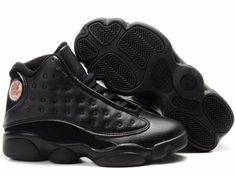 Big Kids Jordan Shoes Kids Air Jordan 13 All Black [Kids Air Jordan 13 - Very cool Kids Air Jordan 13 All Black shoes are marked with the simple black colorway. Characterized with upper made of leather, these black shoes are incredibly durable for a l Jordan Shoes For Kids, Jordan Shoes Online, Air Jordan Shoes, Discount Kids Clothes, Kids Clothes Sale, Kids Clothing, Air Jordan Retro, Black Jordans, Kids Jordans
