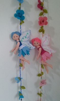 Felt Fairies & Flowers - $? from Etsy