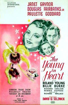 The Young In Heart (1938) - Janet Gaynor, Douglas Fairbanks Jr., Roland Young, Billie Burke, Paulette Goddard