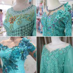 Kebaya Lace, Kebaya Brokat, Batik Dress, Lace Dress, Ruffle Blouse, Model Kebaya, Kebaya Muslim, Kurti Designs Party Wear, Beading