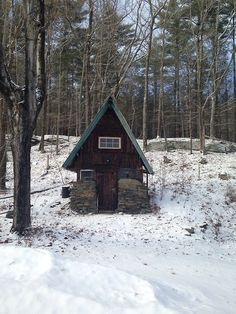 Tiny cabin in Woodstock, New York. Contributed by Sarah...