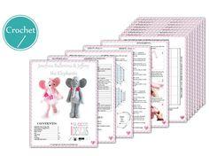 PDF Crochet Pattern for making a cute Ballerina Elephant Amigurumi Stuffed Toy