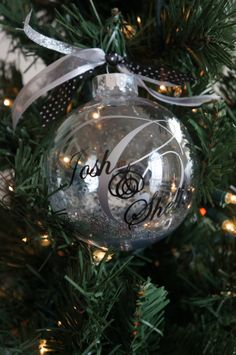 Personalized Wedding Christmas Ornament/Gift for New Couple/ Our ...