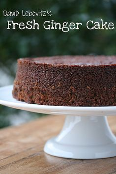 David Lebovit's Fresh Ginger Cake - this cake is amazing!  We often have it at Christmas.