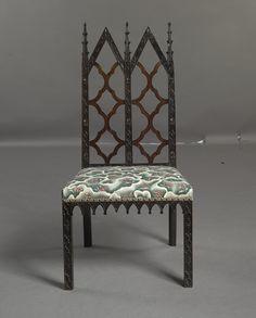 George III Gothic Revival mahogany side chair, circa 1760